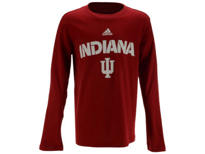 Indiana Hoosiers adidas NCAA Youth Sideline Long Sleeve T-Shirt