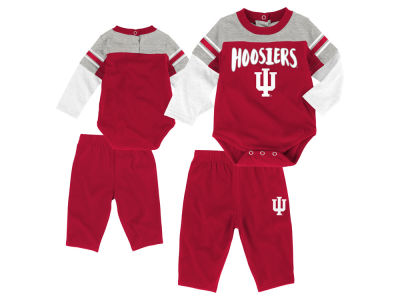 Indiana Hoosiers adidas NCAA Infant Halfback Creeper Pant Set