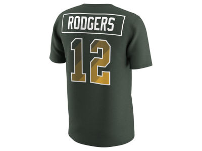Green Bay Packers Aaron Rodgers Nike NFL Men's Pride Name and Number Prism T-Shirt