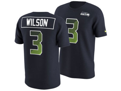 Seattle Seahawks Russell Wilson Nike NFL Men's Pride Name and Number Prism T-Shirt