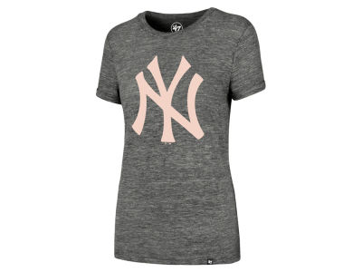 New York Yankees '47 MLB Women's Hero Pink Logo T-Shirt