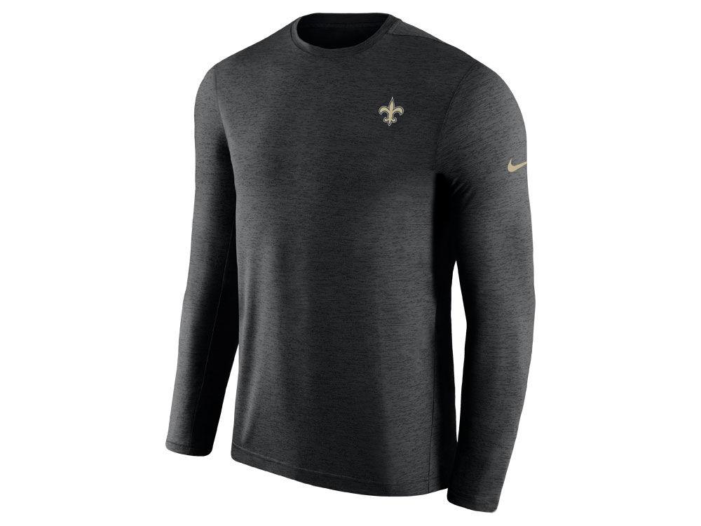 New Orleans Saints Nike 2018 NFL Men s Coaches Long Sleeve T-shirt ... 49a9655f0