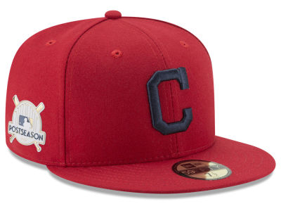 Cleveland Indians New Era 2017 MLB Post Season Authentic Collection Patch 59Fifty Cap