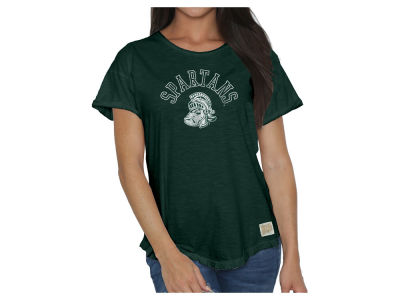 Michigan State Spartans Retro Brand NCAA Women's Slub Rolled Sleeve T-Shirt