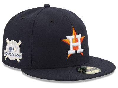 Houston Astros New Era 2017 MLB Post Season Authentic Collection Patch 59Fifty Cap