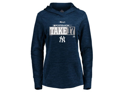 New York Yankees Majestic 2017 MLB Women's Postseason Hoodie