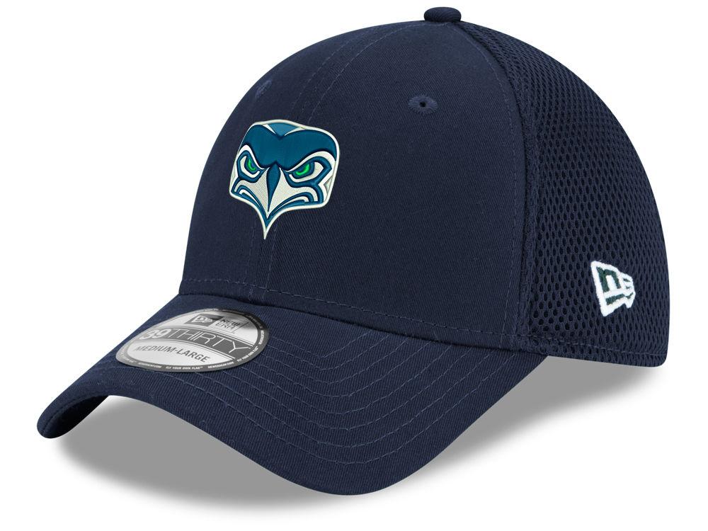 Seattle Seahawks New Era NFL Team Alternate Logo Neo 39THIRTY Cap ... a30804edd
