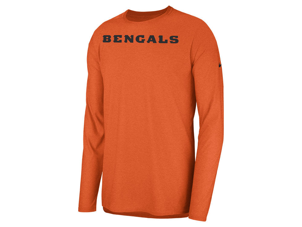 Cincinnati Bengals Nike 2018 NFL Men s Player Top Long Sleeve T-shirt  7c35e08cd