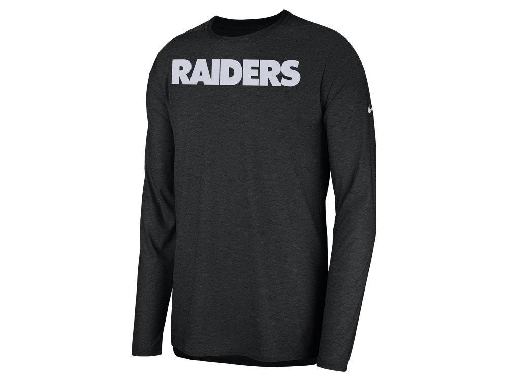 Oakland Raiders Nike 2018 NFL Men s Player Top Long Sleeve T-shirt ... 2effef7b7d6