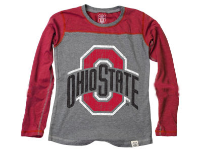 Ohio State Buckeyes Wes and Willy NCAA Toddler Girls Raglan Jersey T-Shirt