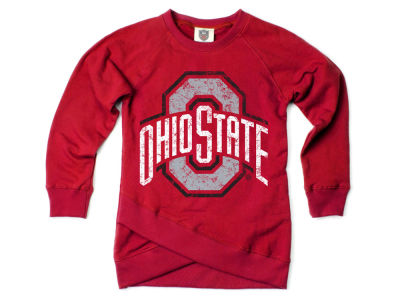Ohio State Buckeyes Wes and Willy NCAA Toddler Girls Crossover Sweatshirt