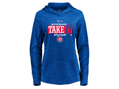 Chicago Cubs Majestic 2017 MLB Women's Postseason Hoodie