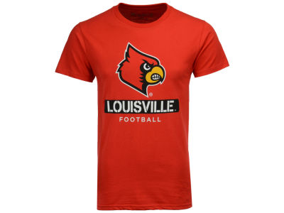 Louisville Cardinals 2 for $28 NCAA Men's Football Stencil T-Shirt