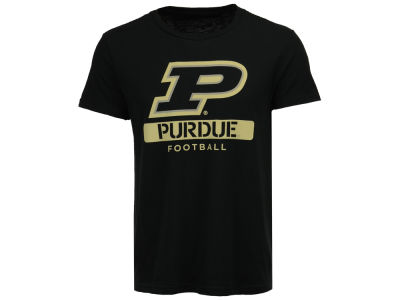 Purdue Boilermakers NCAA Men's Football Stencil T-Shirt