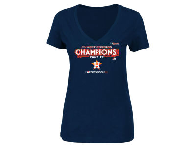 Houston Astros Majestic 2017 MLB Women's Division Champ T-Shirt