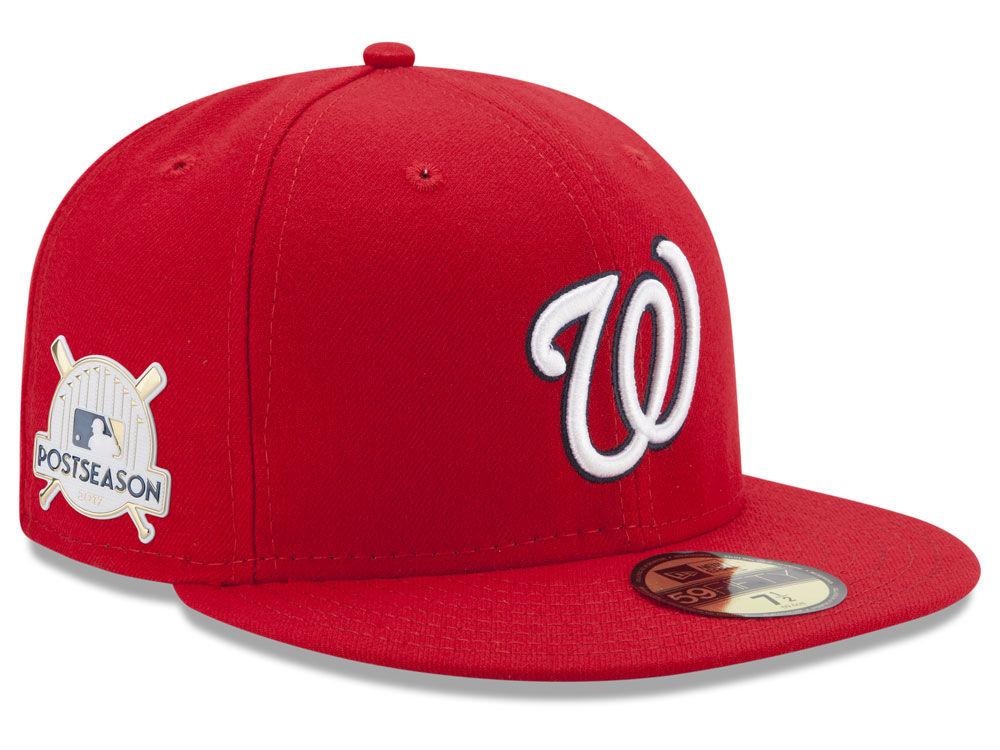 2d05c6cd17f NEW ERA. WASHINGTON NATIONALS NEW ERA 2017 MLB POST SEASON AUTHENTIC  COLLECTION PATCH 59FIFTY CAP