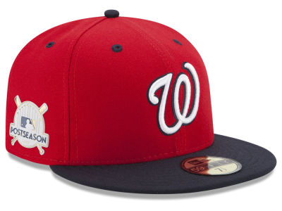 Washington Nationals New Era 2017 MLB Post Season Authentic Collection Patch 59Fifty Cap
