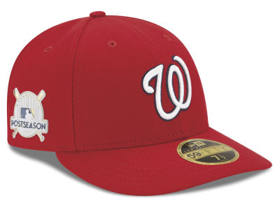 Washington Nationals New Era 2017 MLB Post Season Low Profile Patch 59Fifty Cap