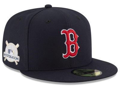 Boston Red Sox New Era 2017 MLB Post Season Authentic Collection Patch 59Fifty Cap