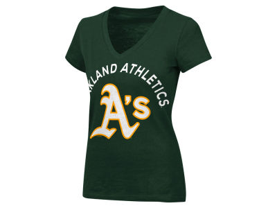 Oakland Athletics MLB Women's Classic Logo V-Neck T-Shirt