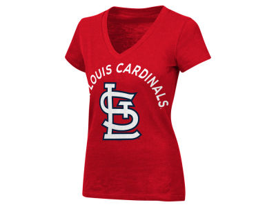 St. Louis Cardinals MLB Women's Classic Logo V-Neck T-Shirt