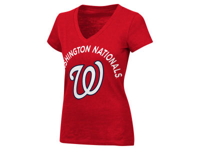 Washington Nationals MLB Women's Classic Logo V-Neck T-Shirt