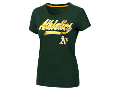 Oakland Athletics MLB Women's Script Foil T-Shirt