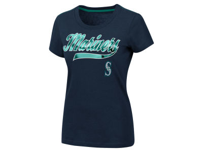 Seattle Mariners MLB Women's Script Foil T-Shirt