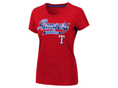 Texas Rangers G-III Sports MLB Women's Script Foil T-Shirt