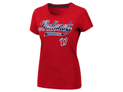 Washington Nationals G-III Sports MLB Women's Script Foil T-Shirt