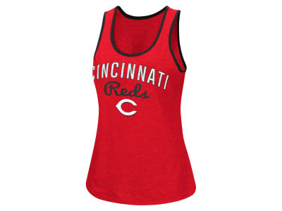 Cincinnati Reds MLB Women's Power Punch Glitter Tank