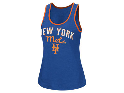 New York Mets G-III Sports MLB Women's Power Punch Glitter Tank