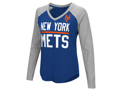 New York Mets G-III Sports MLB Women's Power Hitter Raglan T-shirt