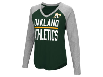 Oakland Athletics MLB Women's Power Hitter Raglan T-shirt