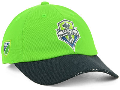 Seattle Sounders FC Outerstuff MLS Youth Authentic Adjustable Slouch Cap