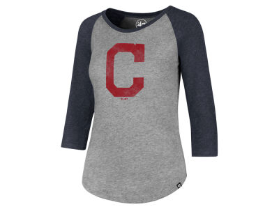Cleveland Indians '47 MLB Women's Distressed Raglan T-shirt