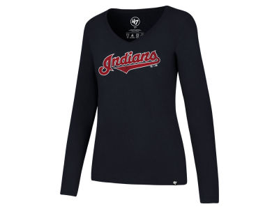 Cleveland Indians '47 MLB Women's Wordmark Long Sleeve T-Shirt