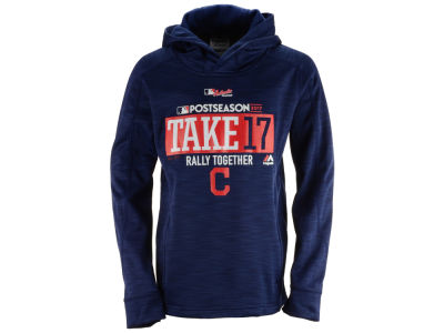 Cleveland Indians Majestic 2017 MLB Youth Postseason Streak Hoodie