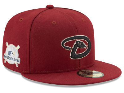 Arizona Diamondbacks New Era 2017 MLB Post Season Authentic Collection Patch 59Fifty Cap