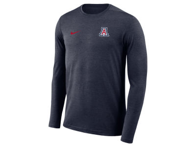 Arizona Wildcats Nike NCAA Men's Long Sleeve Dri-Fit Coaches T-shirt