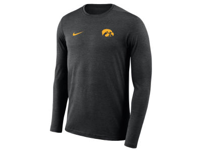 Iowa Hawkeyes Nike NCAA Men's Long Sleeve Dri-Fit Coaches T-shirt