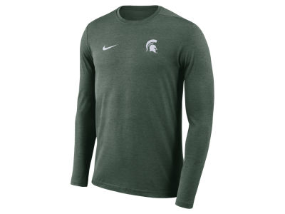 Michigan State Spartans Nike NCAA Men's Long Sleeve Dri-Fit Coaches T-shirt
