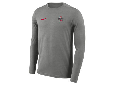 Ohio State Buckeyes Nike NCAA Men's Long Sleeve Dri-Fit Coaches T-shirt