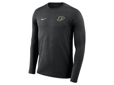 Purdue Boilermakers Nike NCAA Men's Long Sleeve Dri-Fit Coaches T-shirt