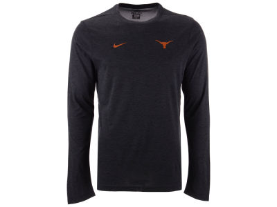 Texas Longhorns Nike NCAA Men's Long Sleeve Dri-Fit Coaches T-shirt