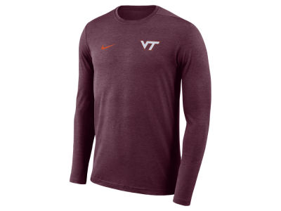 Virginia Tech Hokies Nike NCAA Men's Long Sleeve Dri-Fit Coaches T-shirt