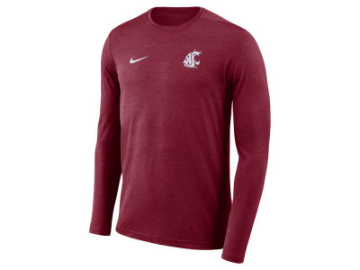 Washington State Cougars Nike NCAA Men's Long Sleeve Dri-Fit Coaches T-shirt