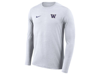 Washington Huskies Nike NCAA Men's Long Sleeve Dri-Fit Coaches T-shirt