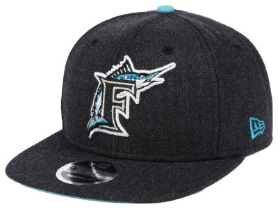 Florida Marlins New Era MLB Heather Hype 9FIFTY Snapback Cap