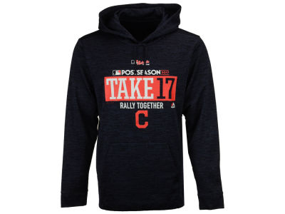 Cleveland Indians Majestic 2017 MLB Men's Postseason Ultra Fleece Hoodie